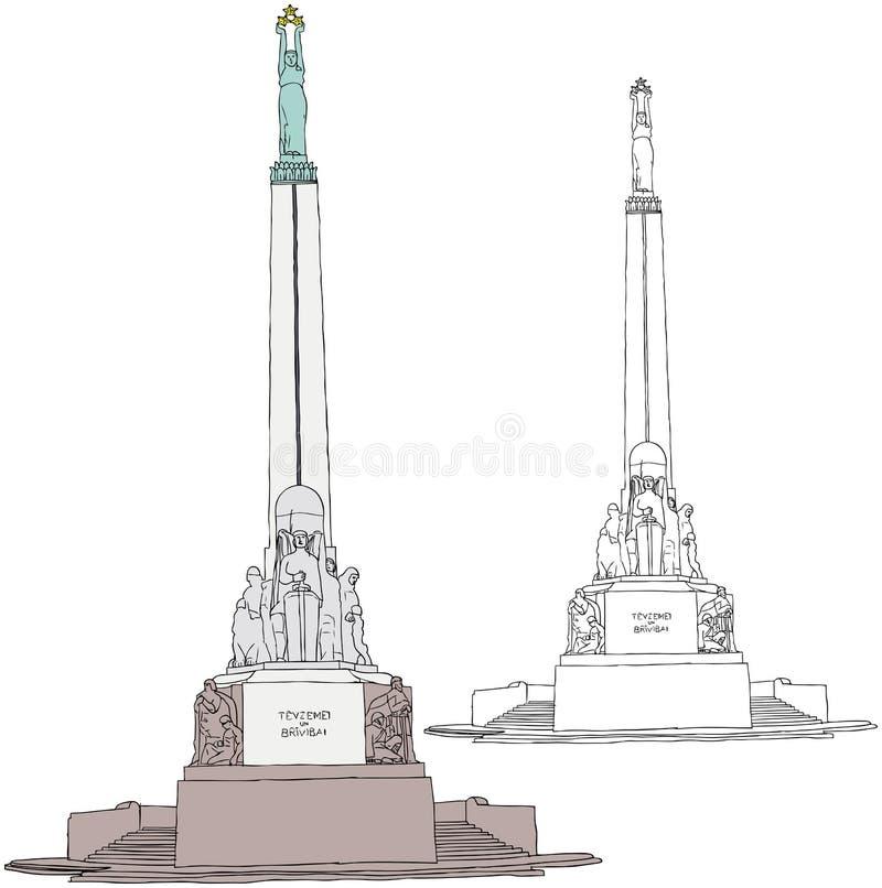 自由纪念碑里加 向量例证