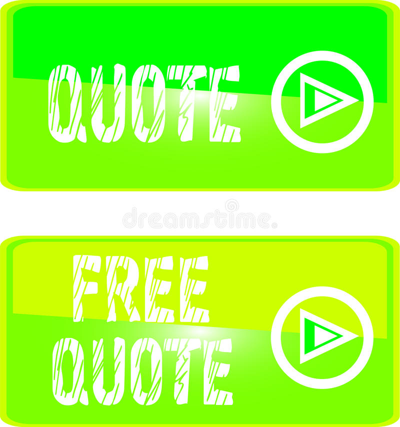 自由绿色报价符号万维网 皇族释放例证