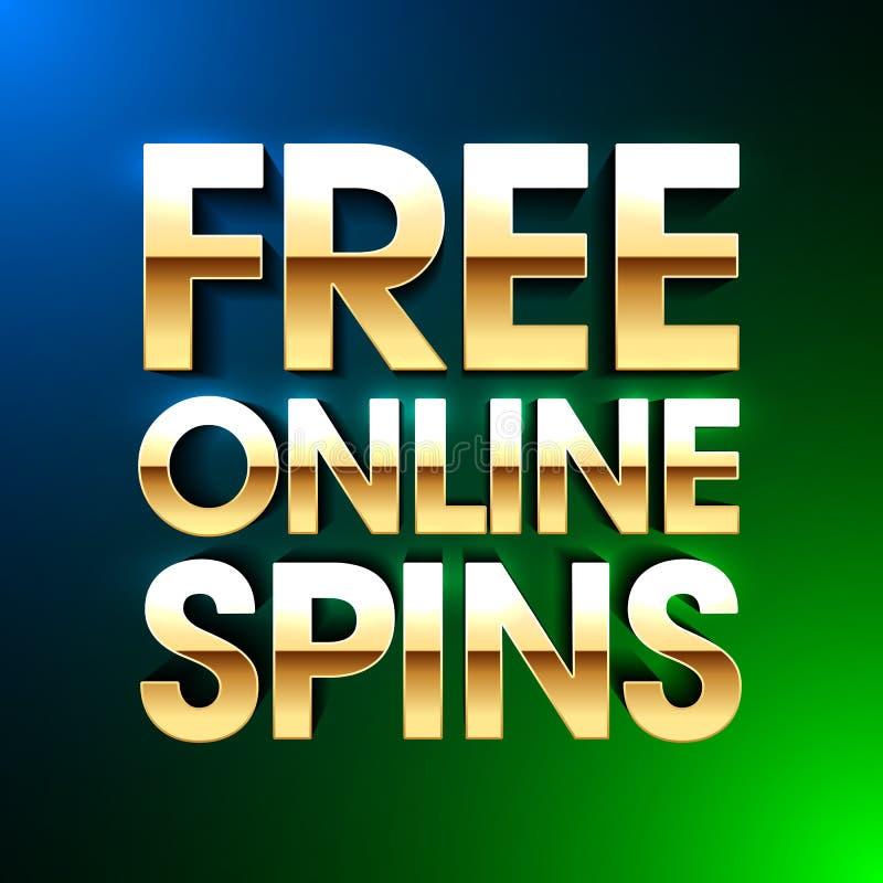 自由网上旋转赌博娱乐场横幅 向量例证