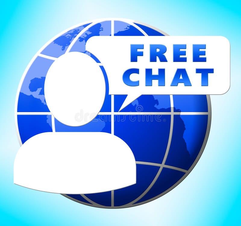 自由聊天节目互联网消息3d例证 库存例证