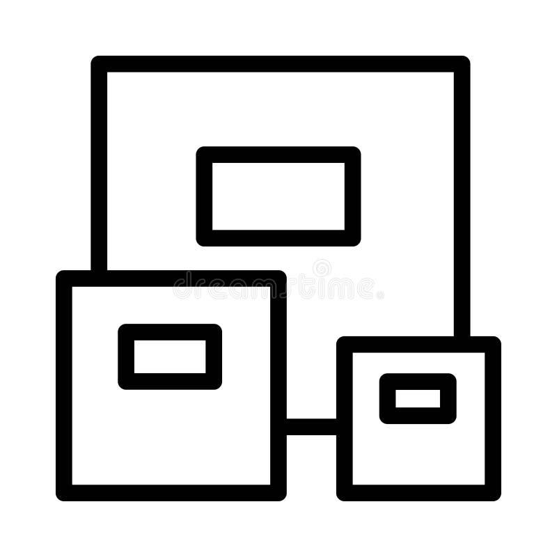 自由运输的纸板象 自由运输的纸板传染媒介象的平的例证网的 向量例证