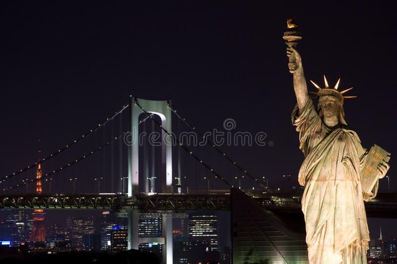 自由雕象东京 免版税库存图片