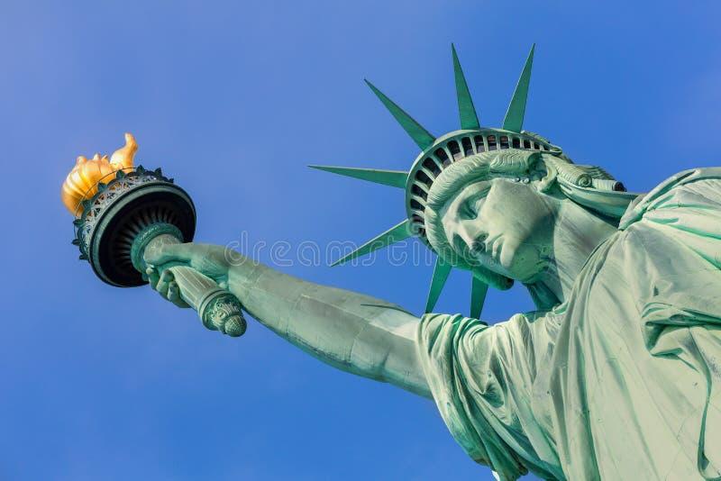 自由雕象纽约美国标志美国 免版税库存图片