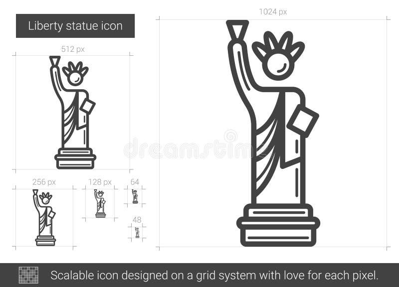自由雕象线象 向量例证