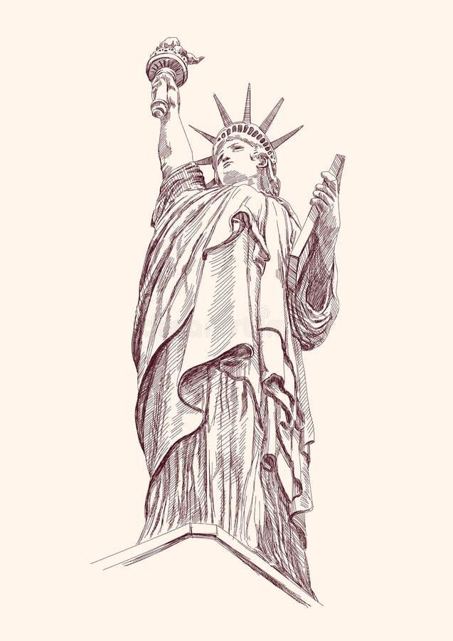 自由雕象 向量例证