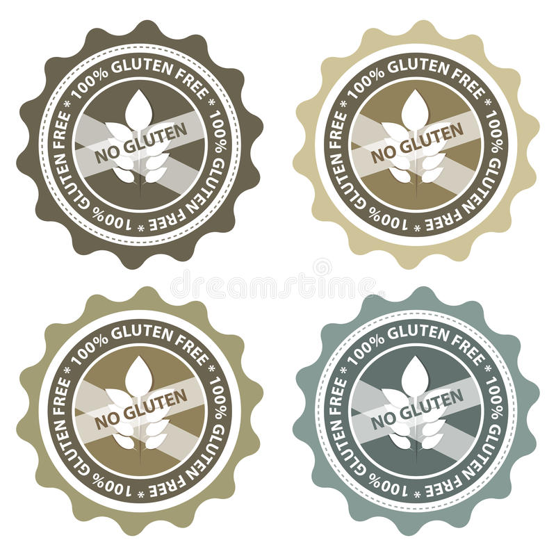 自由面筋标签 免版税图库摄影