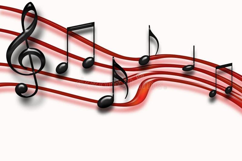 自由音乐会 向量例证