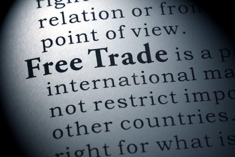 自由贸易的定义 免版税库存图片