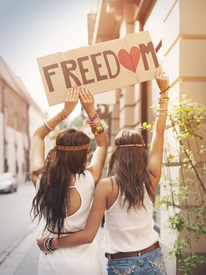 自由! 库存照片