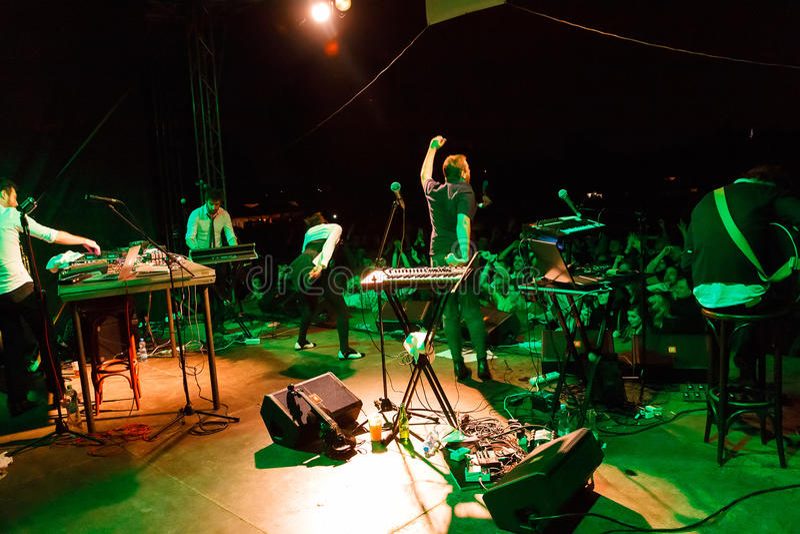 自由Fest的Troja有蓬卡车宫殿2012年 库存图片