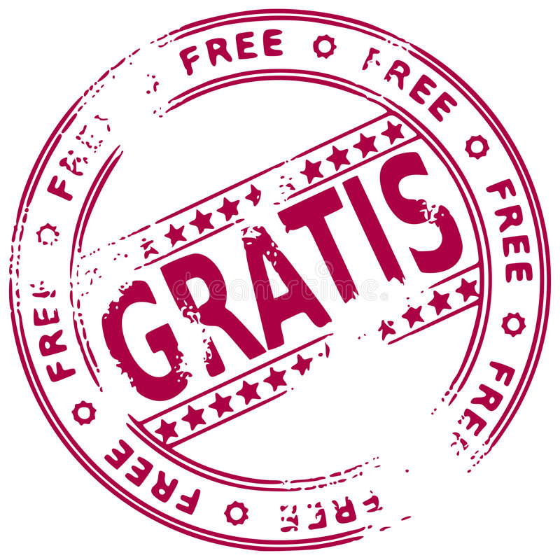 自由grunge西班牙语印花税 库存例证