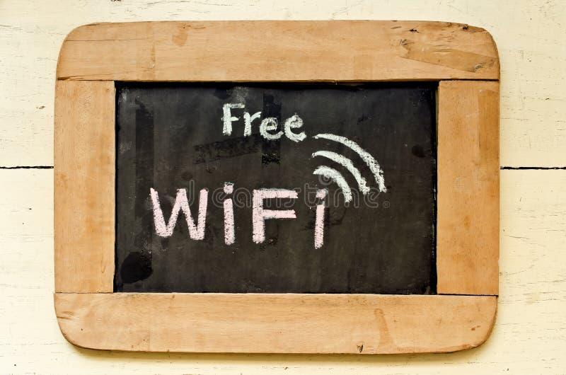 自由wifi标志 库存照片