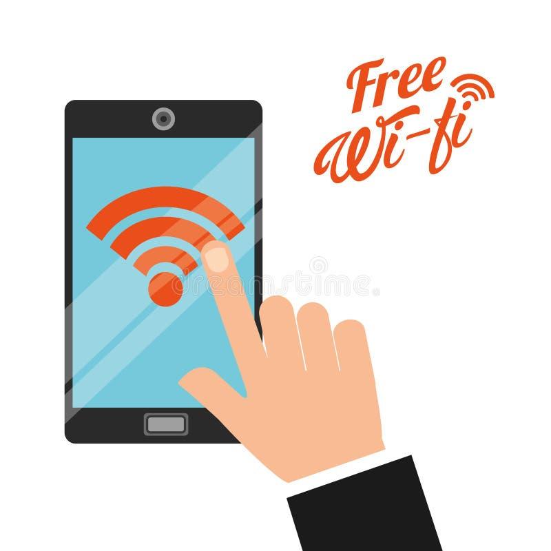 自由wifi设计 向量例证