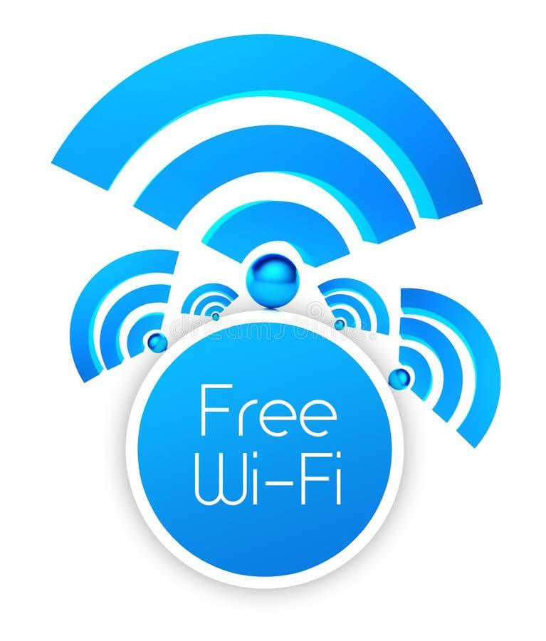 自由wifi象,被隔绝的白色 向量例证