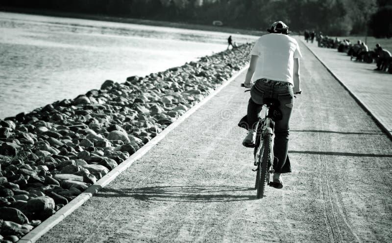 自行车人 图库摄影