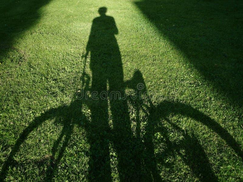 自行车人 免版税库存照片