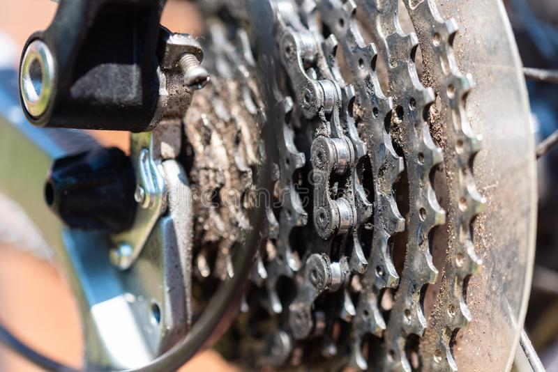 自行车作为在这些照片的主要题材 库存图片