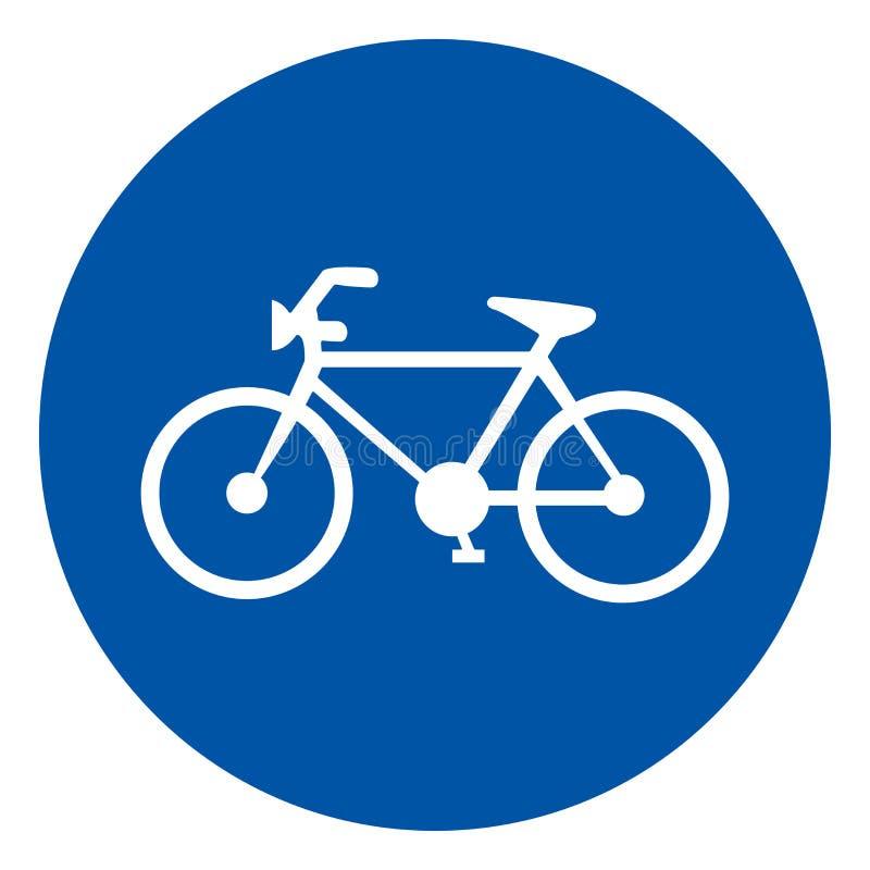 自行车停放的标志标志,传染媒介例证,在白色背景标签的孤立 EPS10 皇族释放例证