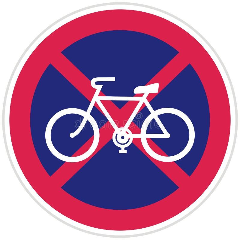 自行车停放的禁令,传染媒介交通标志 库存例证