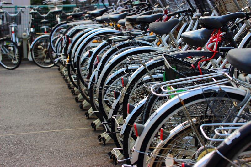 自行车停车处 免版税库存图片