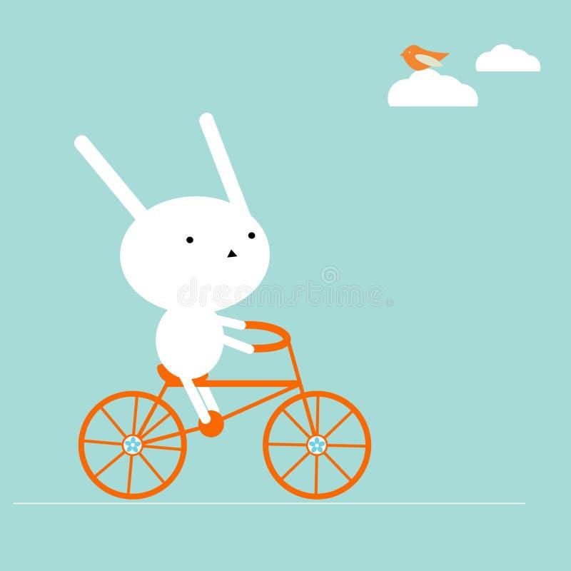自行车兔宝宝 库存例证
