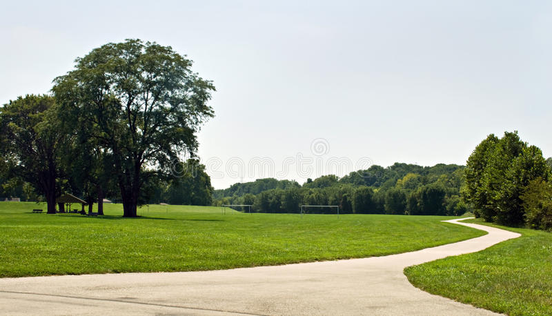 自行车公园路径 免版税库存照片