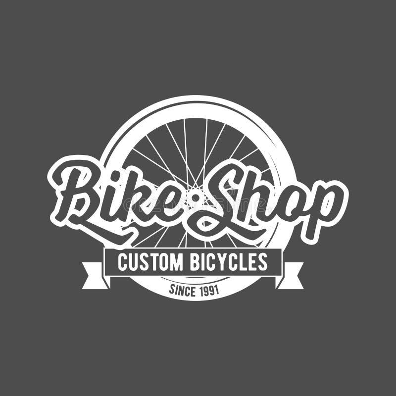 自行车减速火箭的徽章 向量例证