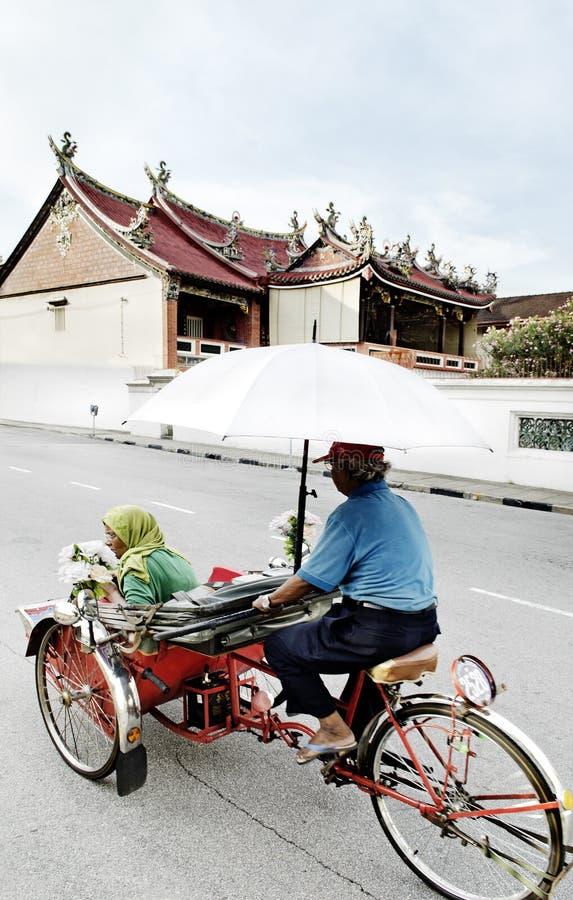 自行车出租汽车在槟榔岛马来西亚 库存照片