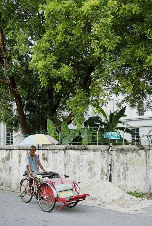 自行车出租汽车在槟榔岛马来西亚 免版税库存照片