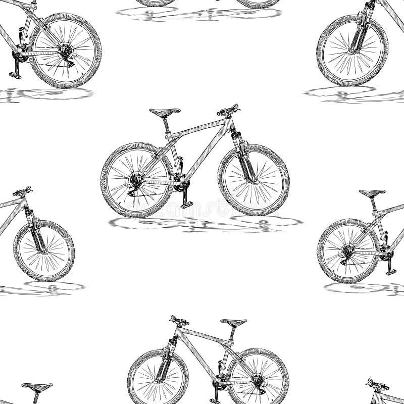 自行车剪影背景  库存例证