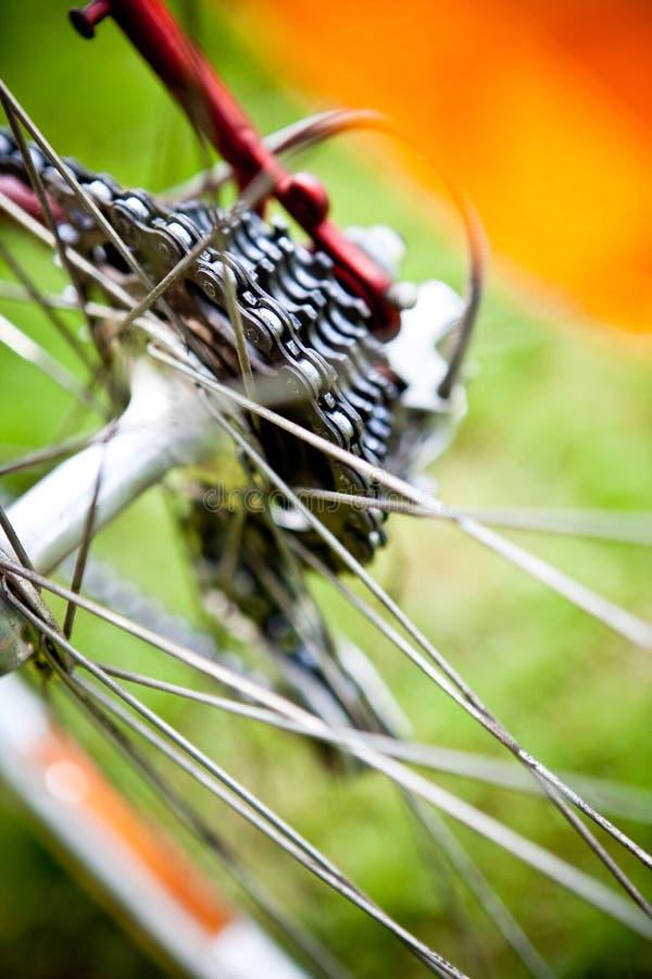 自行车卡式磁带赛跑 库存图片