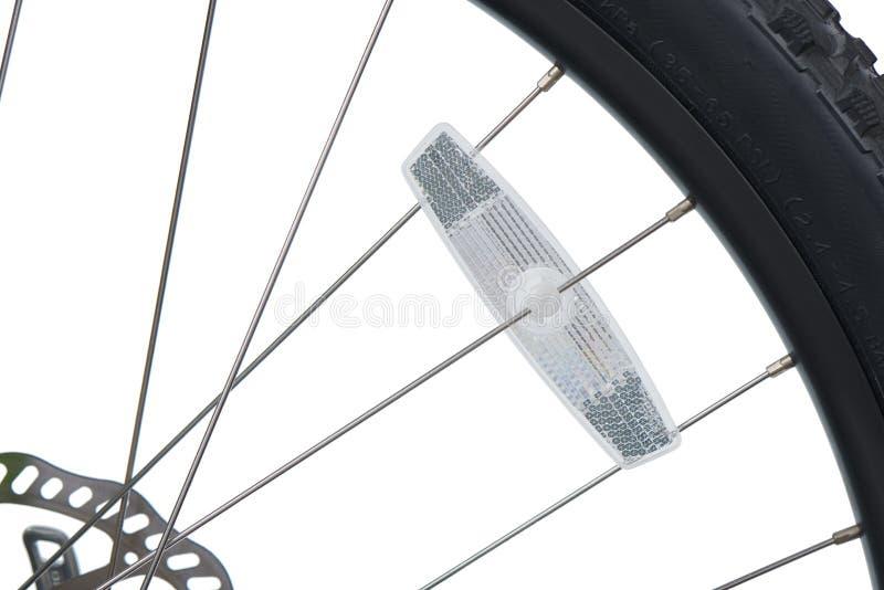 自行车反射器特写镜头  图库摄影