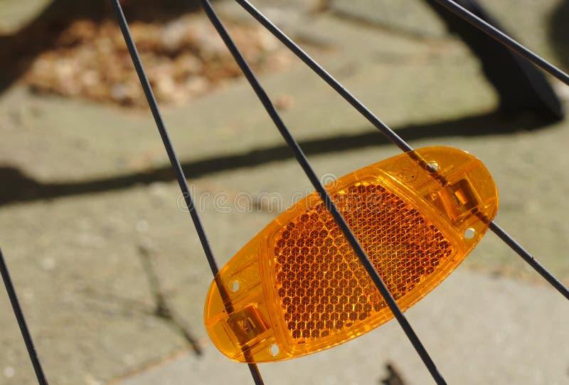 自行车反射器 免版税库存图片