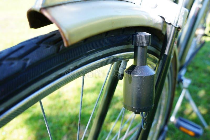 自行车发电机 免版税库存图片