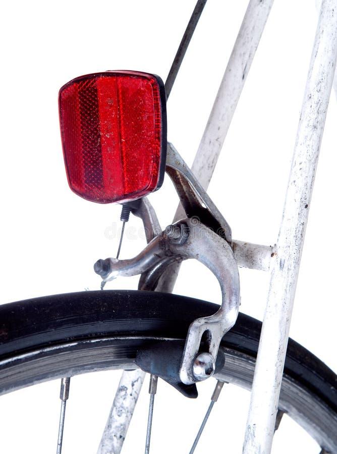 自行车后方反射器 库存图片