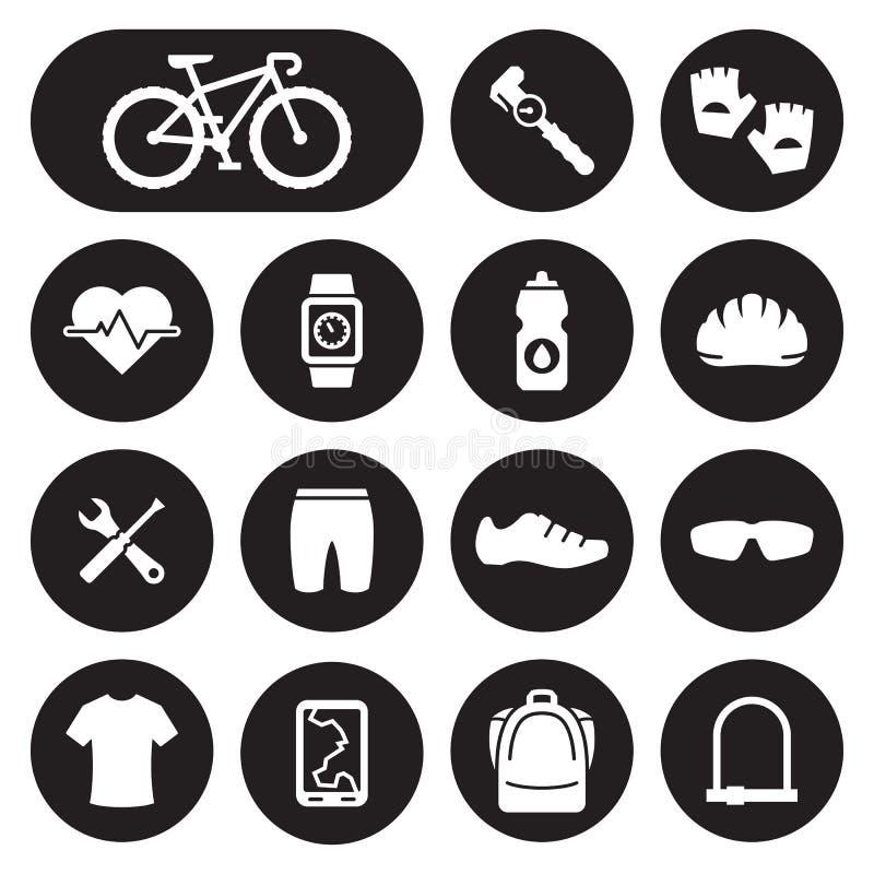 自行车和循环的辅助部件象 皇族释放例证