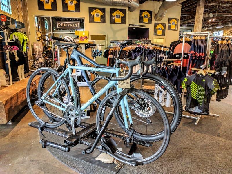 自行车商店 库存照片