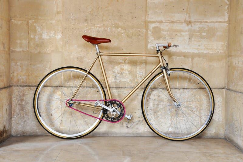 自行车固定的齿轮 免版税图库摄影