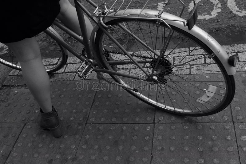 自行车在伦敦 免版税库存照片