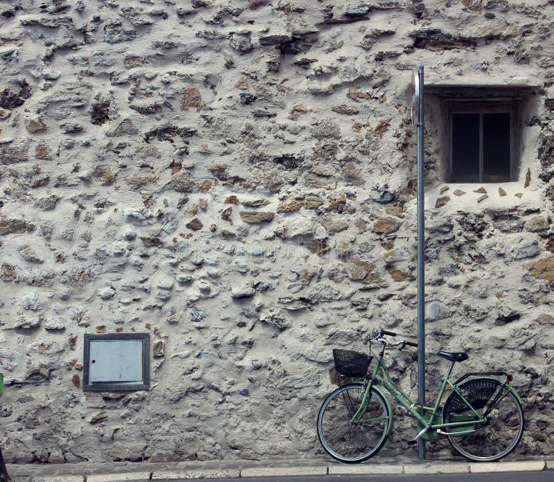 自行车在圣特罗佩 库存照片