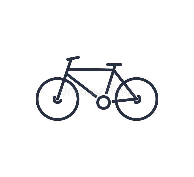 自行车在平的样式的标志象 自行车在白色被隔绝的背景的传染媒介例证 循环的企业概念 向量例证