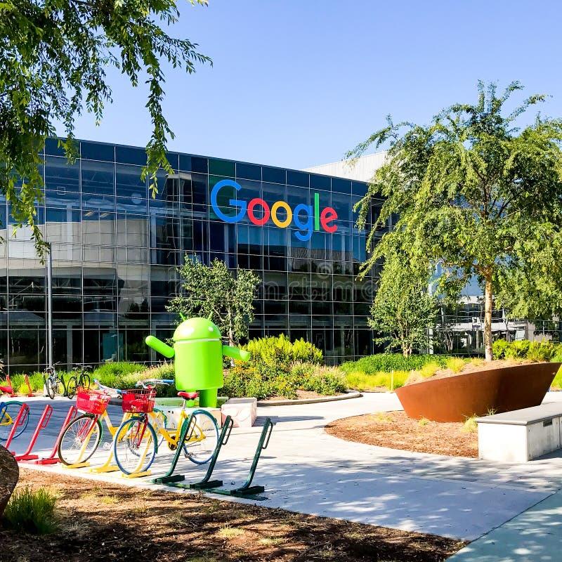 自行车在Googleplex -谷歌总部 图库摄影