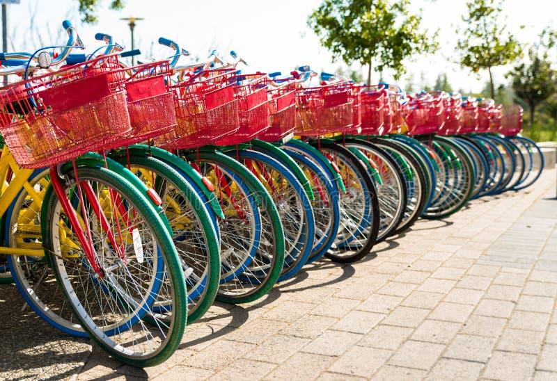自行车在Googleplex -谷歌总部 免版税库存图片