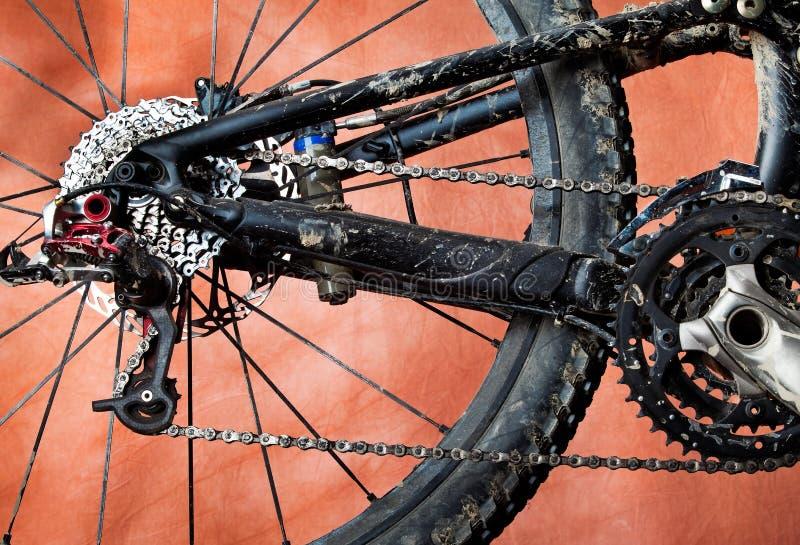 自行车坏的山 免版税库存图片