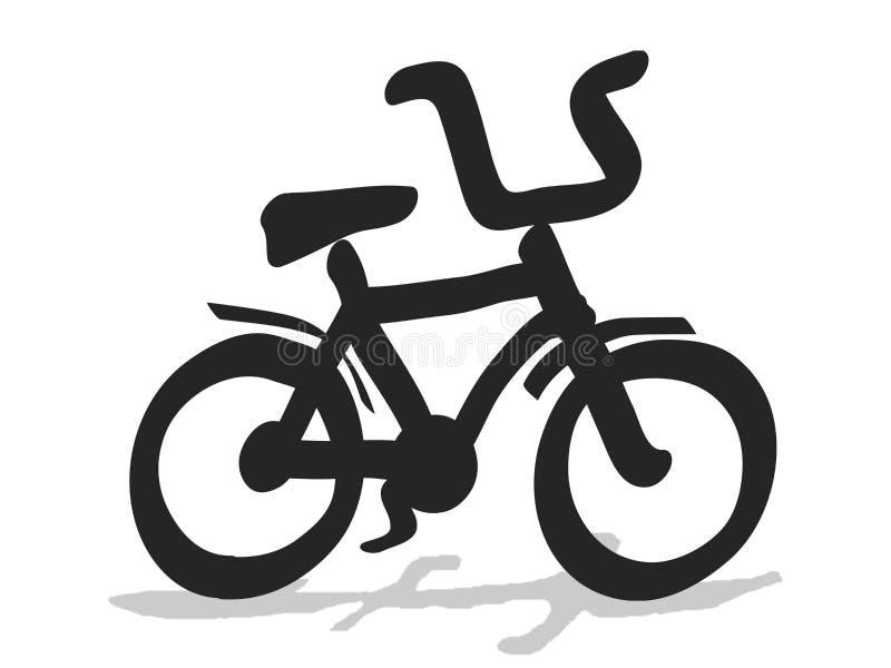 自行车孩子 向量例证