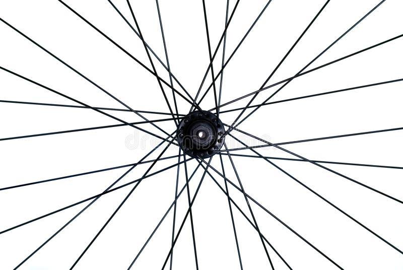 自行车山轮幅 免版税库存图片