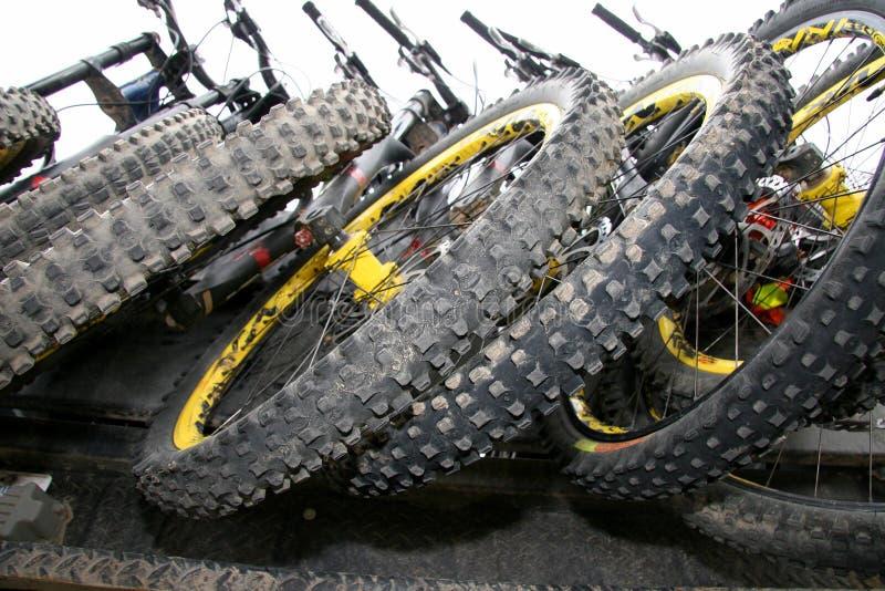 自行车山轮胎 免版税库存照片