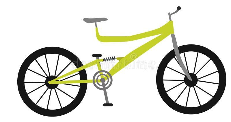 自行车山黄色 向量例证