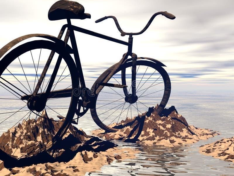 自行车山 向量例证