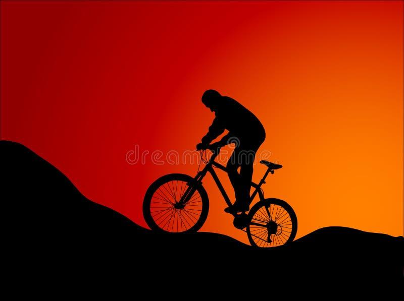 自行车山 皇族释放例证